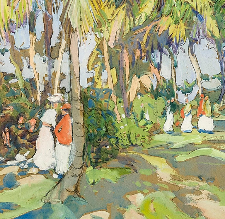 Palm Grove  - Art by Jane Peterson