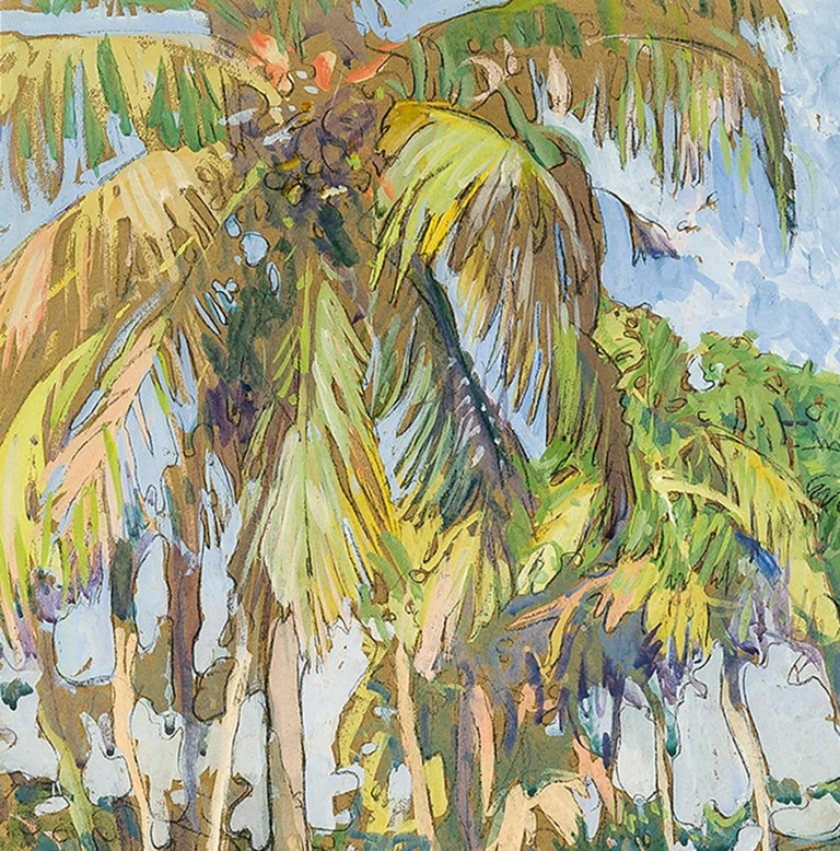 Palm Grove  - American Impressionist Art by Jane Peterson