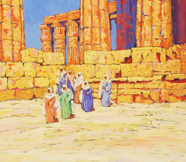 View of the Temple of Karnak, Egypt  - Art by Eleanor Parke Custis