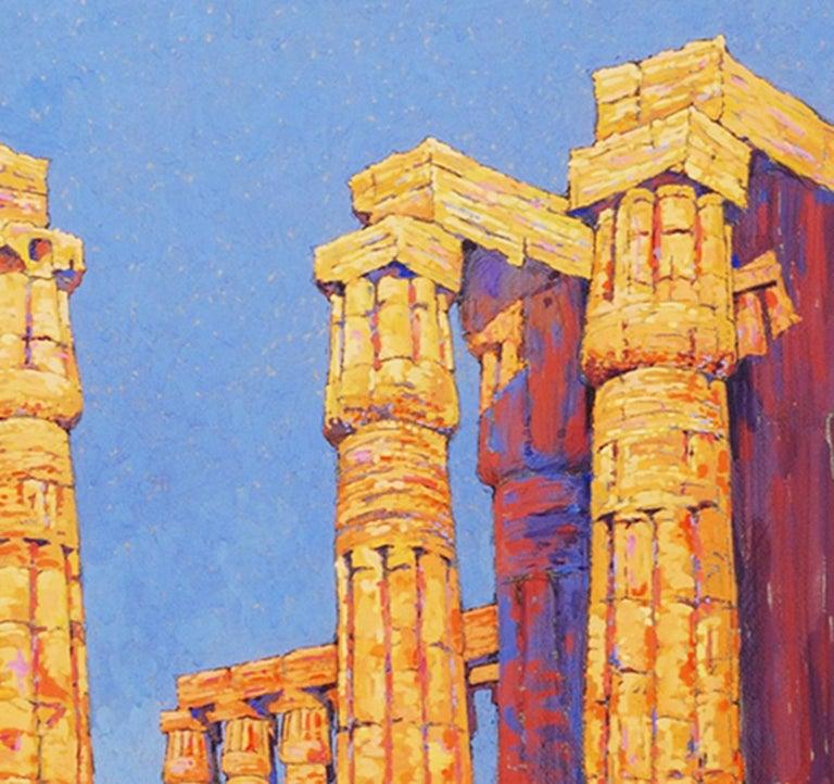 View of the Temple of Karnak, Egypt  - American Realist Art by Eleanor Parke Custis