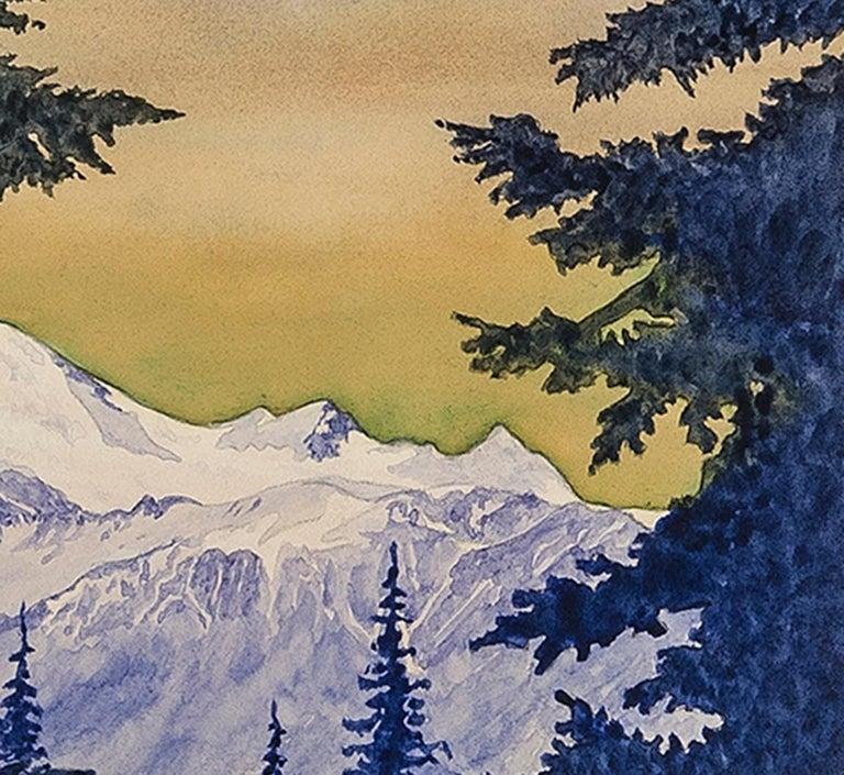 Mount Baker, Washington - American Modern Art by Zama Vanessa Helder