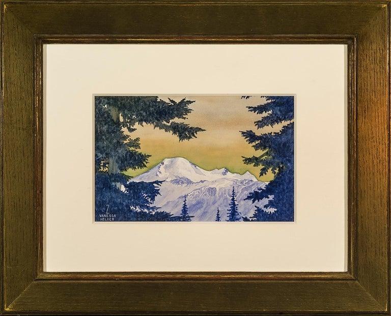 Mount Baker, Washington - Brown Landscape Art by Zama Vanessa Helder