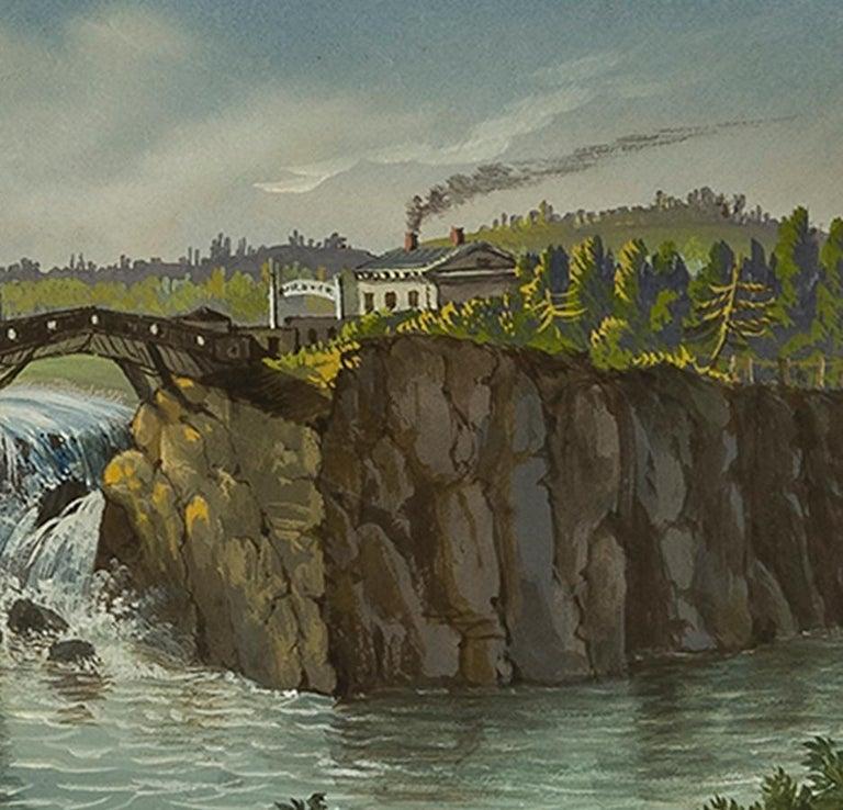 Passaic Falls in New Jersey - Art by Nicolino V. Calyo