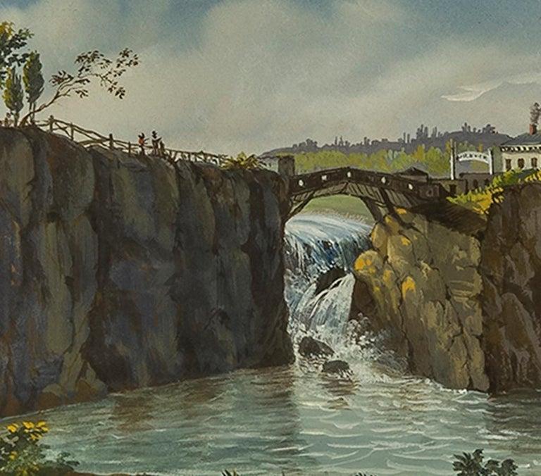 Passaic Falls in New Jersey - American Realist Art by Nicolino V. Calyo