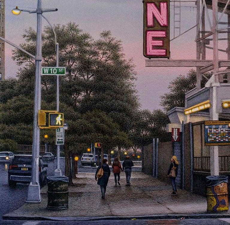 West 10th Street, Coney Island  - Art by Frederick Brosen