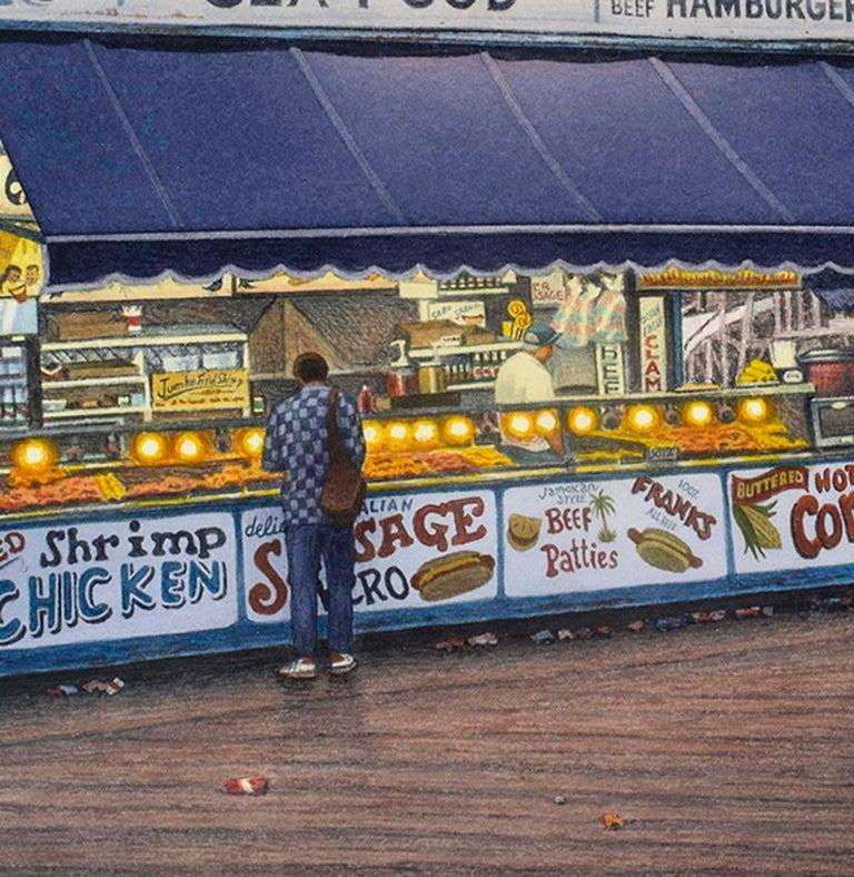 Along the Boardwalk - Art by Frederick Brosen