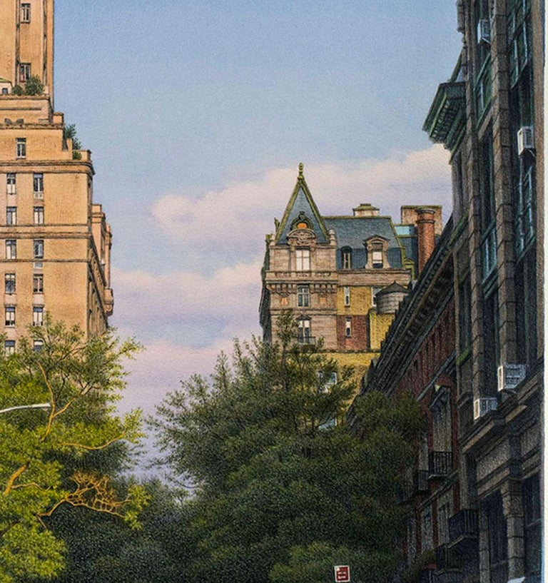 West 74th Street - Gray Landscape Art by Frederick Brosen