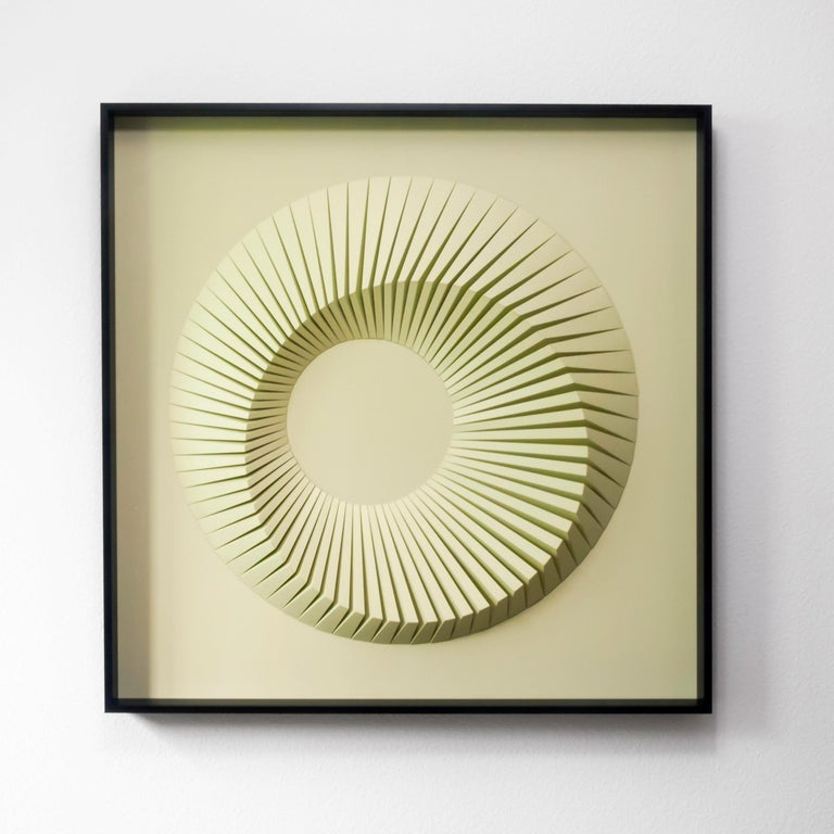 Yossi Ben Abu Abstract Sculpture - Eclipse C Green