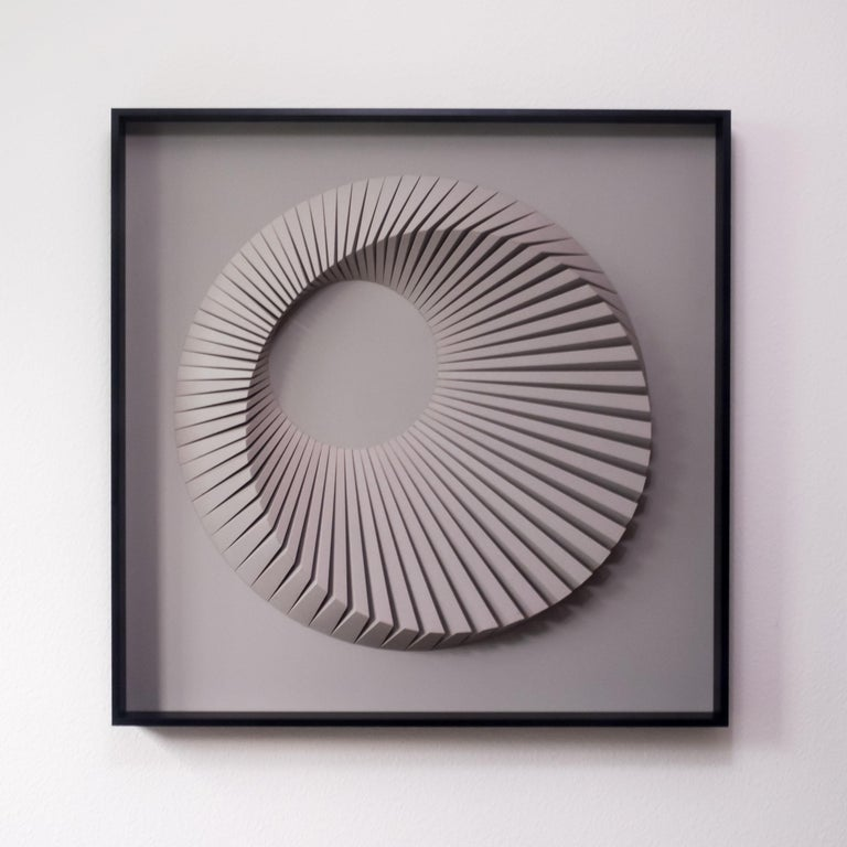 Yossi Ben Abu Abstract Painting - Eclipse D Gray