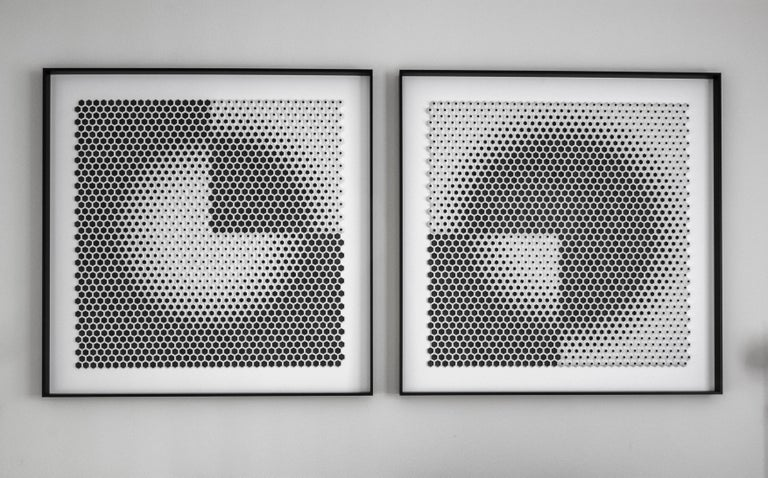 Yossi Ben Abu Abstract Sculpture - Trimestre R + L (diptych)