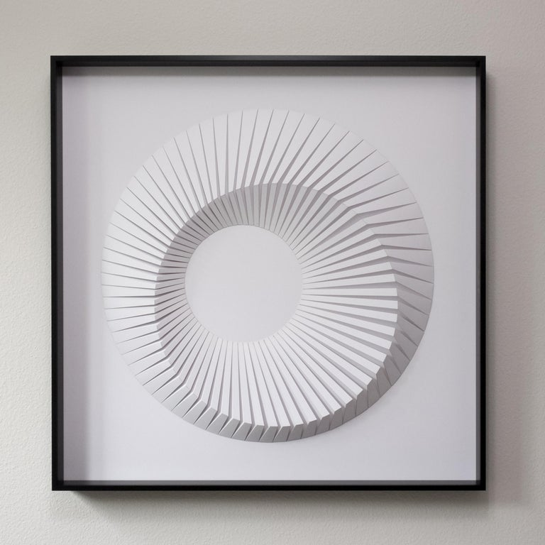 Yossi Ben Abu Abstract Sculpture - Eclipse D White