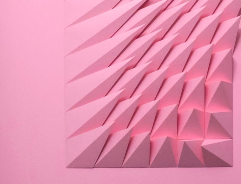 Pink Swirl - Painting by Yossi Ben Abu