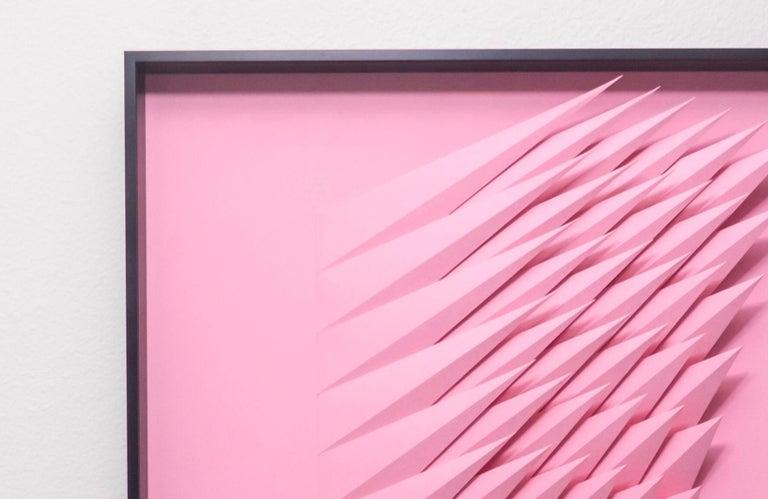 Pink Swirl - Abstract Geometric Painting by Yossi Ben Abu