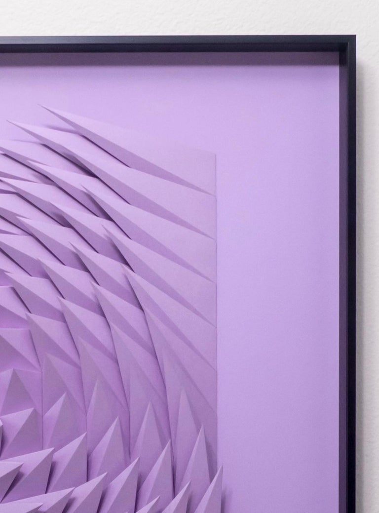 Plum swirl - Abstract Geometric Sculpture by Yossi Ben Abu