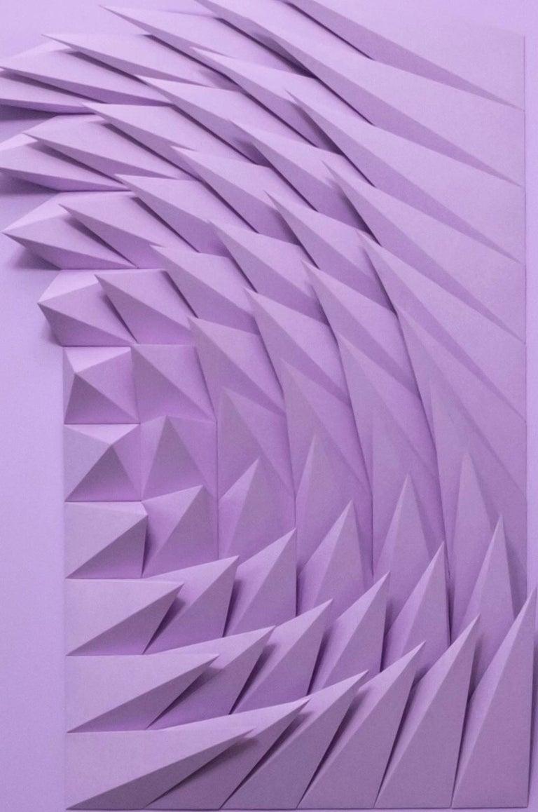 Plum swirl - Purple Abstract Sculpture by Yossi Ben Abu