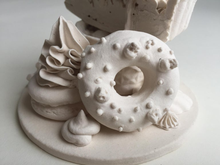 Cookies and Cream - Gray Figurative Sculpture by Jacqueline Tse