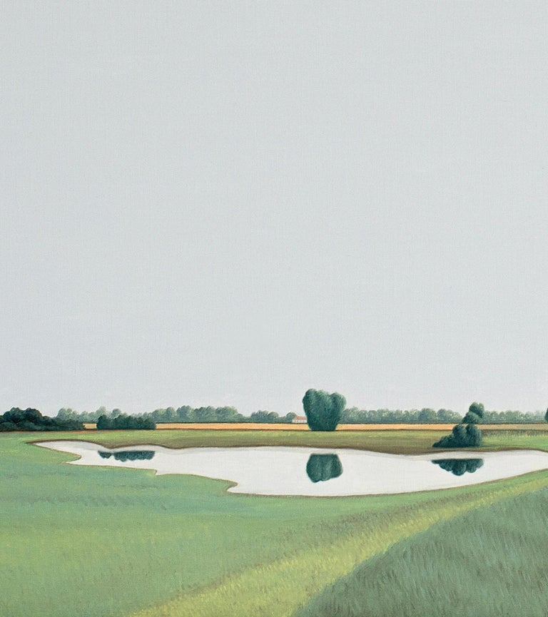 Ooijpolder - Landscape painting - Contemporary Painting by Jeroen Allart