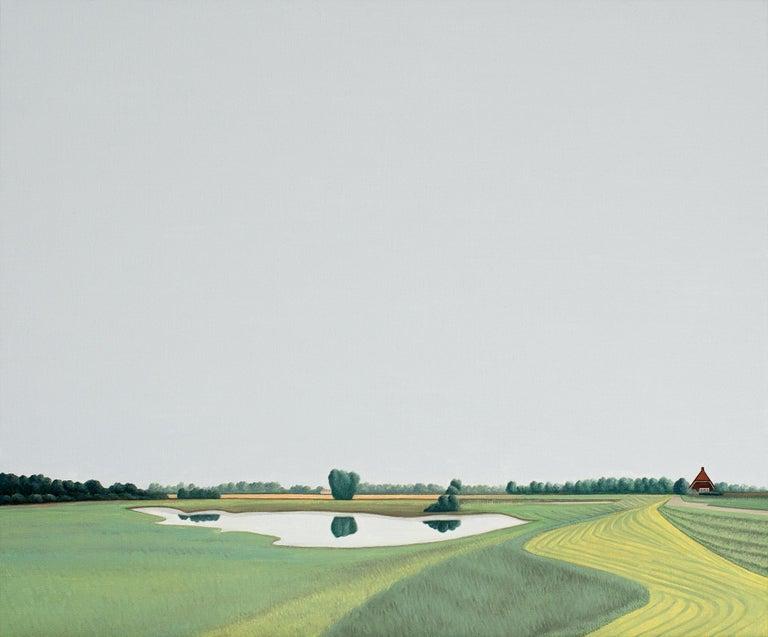 Jeroen Allart Landscape Painting - Ooijpolder - Landscape painting
