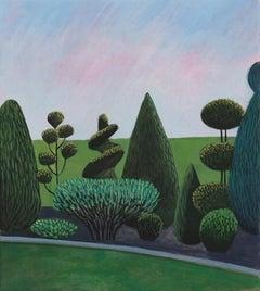 Pandemic 2 - landscape painting, minimalist painting