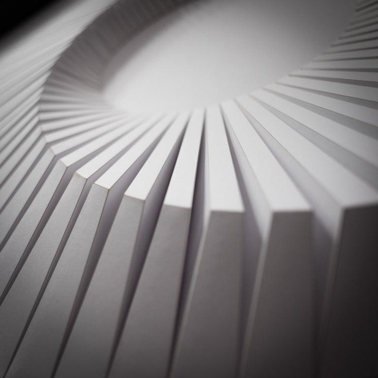 Eclips A White - Sculpture by Yossi Ben Abu