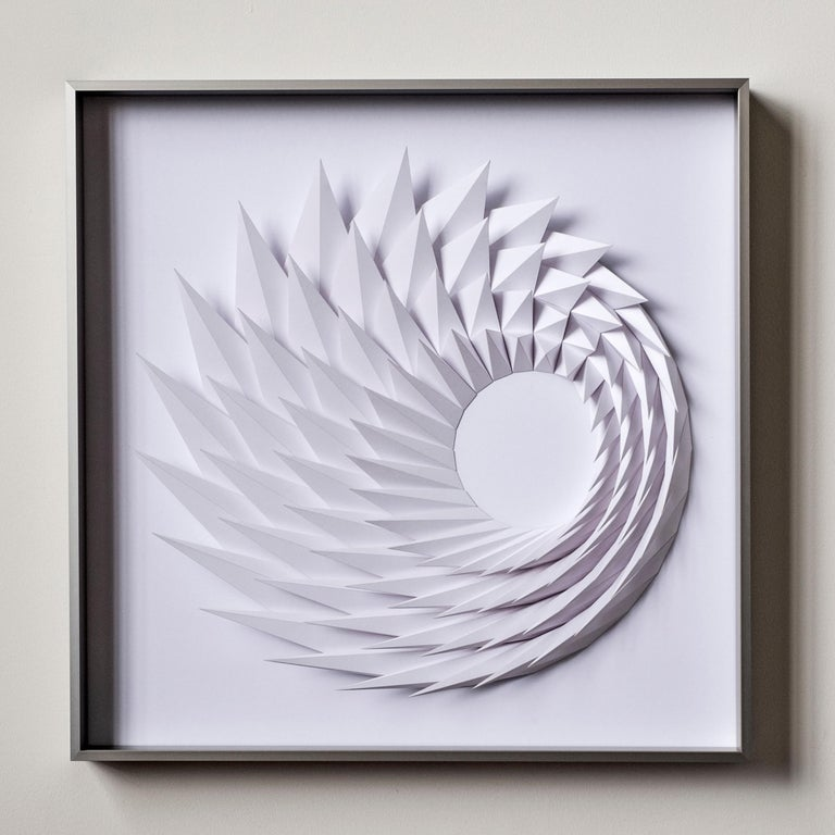 Yossi Ben Abu Abstract Sculpture - Growth - geometric abstract wall sculpture