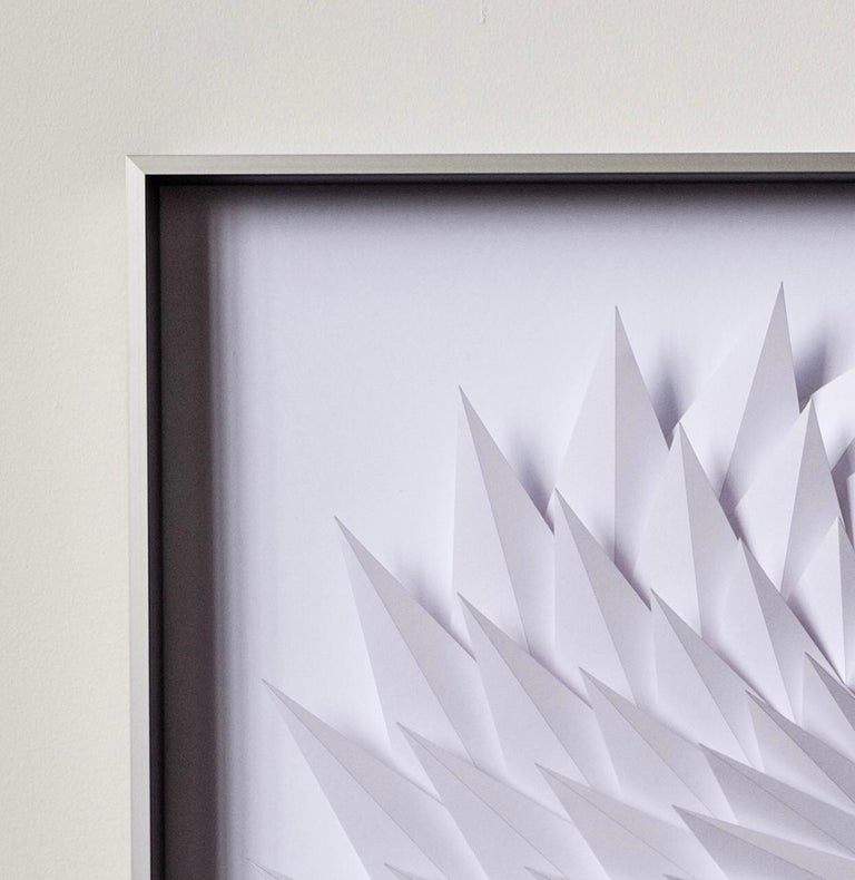 Growth - geometric abstract wall sculpture - Sculpture by Yossi Ben Abu