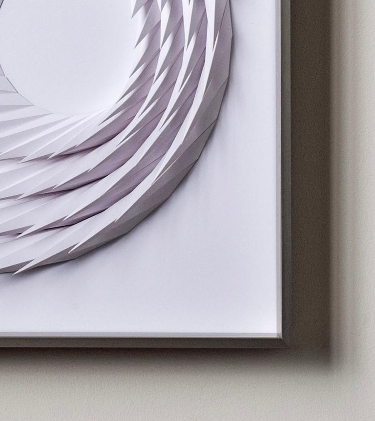 Growth - geometric abstract wall sculpture - Gray Abstract Sculpture by Yossi Ben Abu