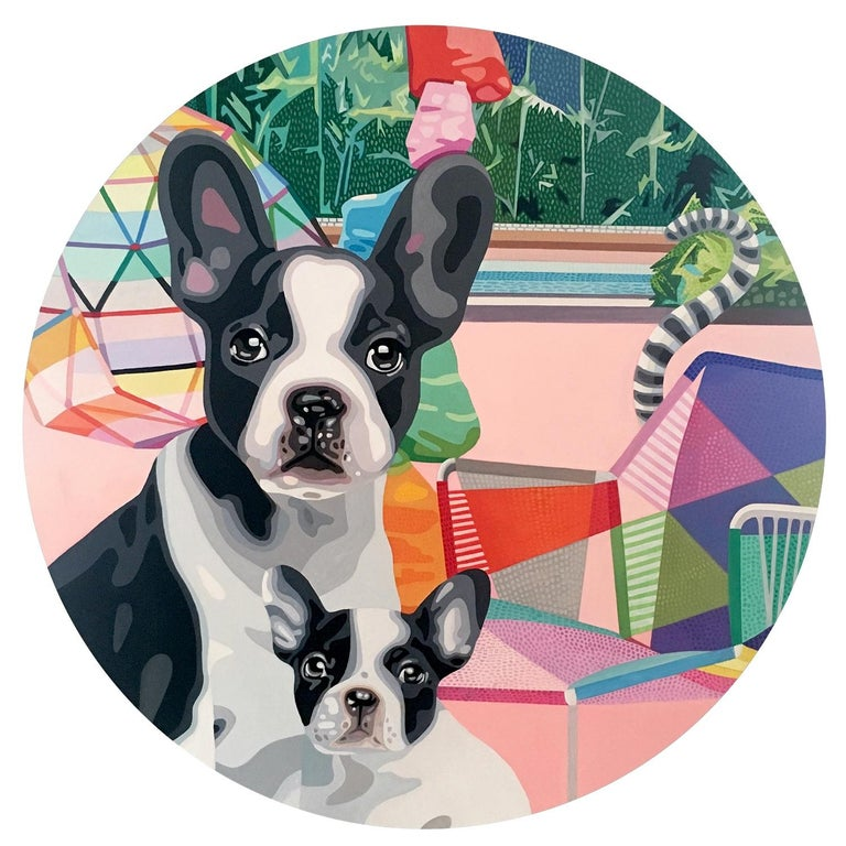 Christina Holdgaard Animal Painting - Art Collector 4 - figurative animal painting