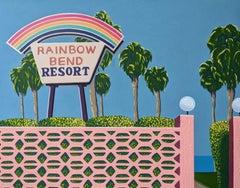Rainbow bend resort - landscape painting