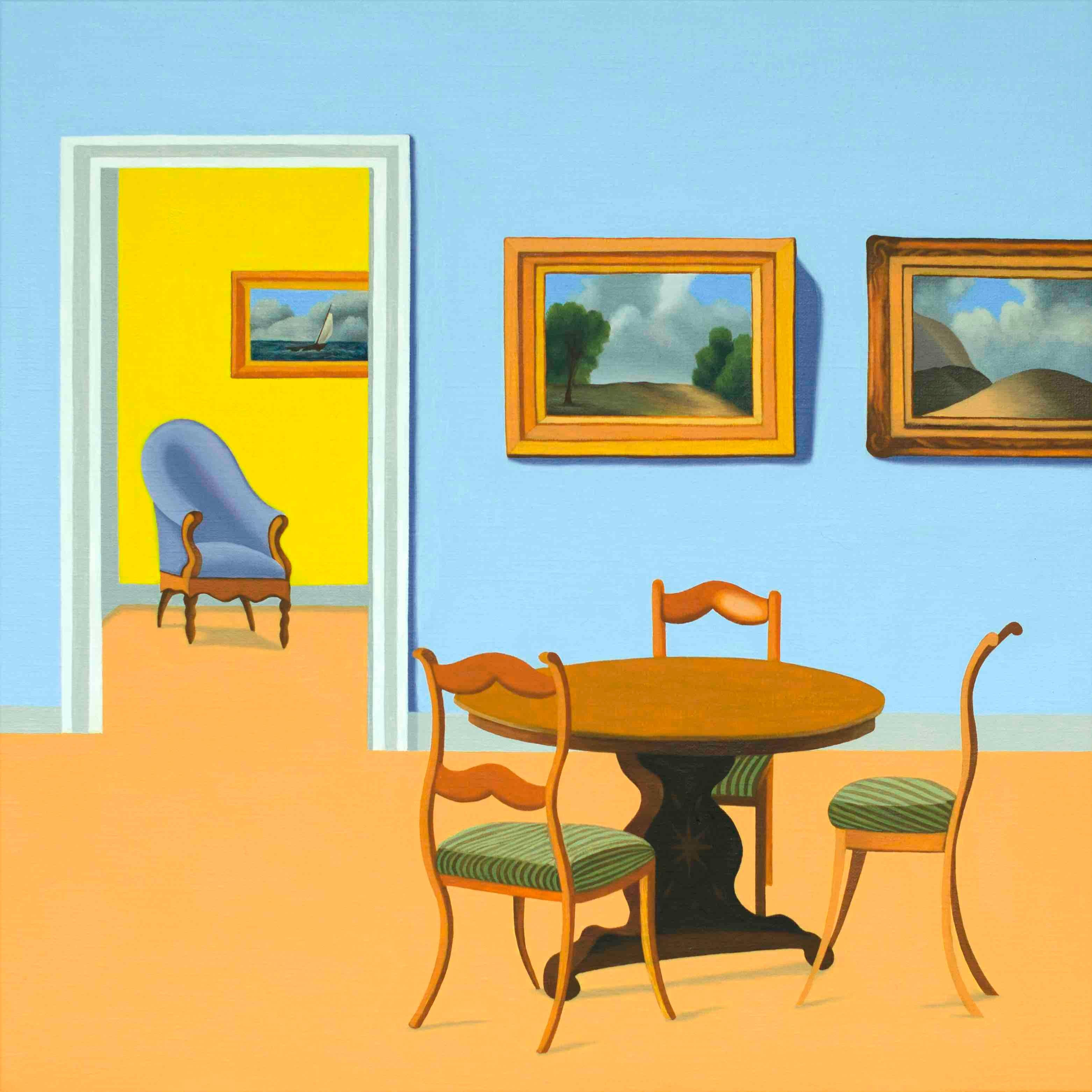 Interior - figurative painting