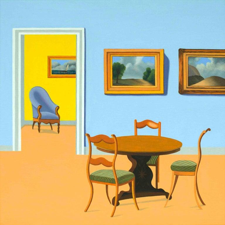 Jeroen Allart Landscape Painting - Interior - figurative painting