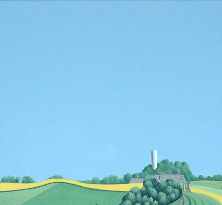 Zweden - landscape painting - Painting by Jeroen Allart