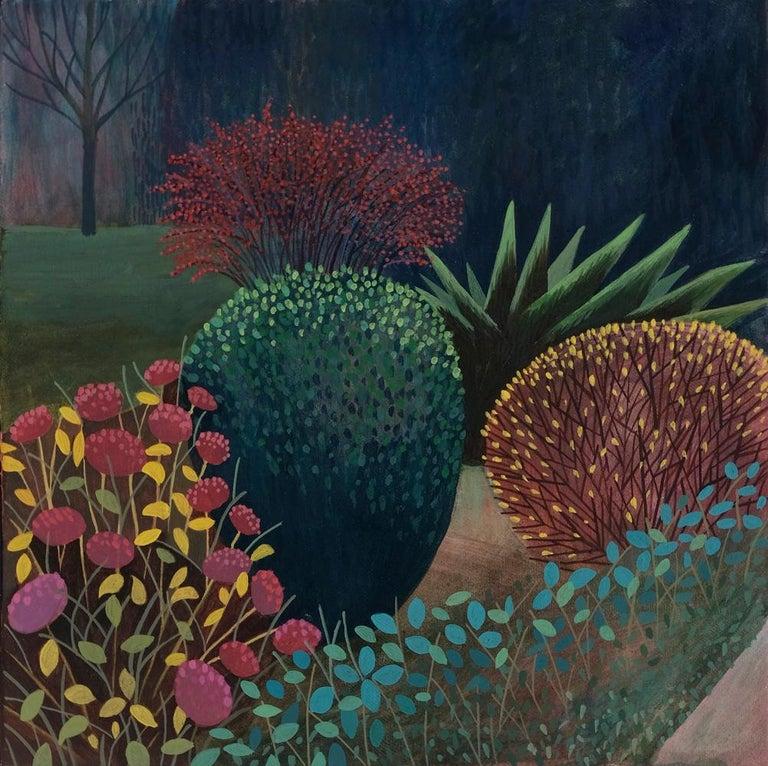 Olga Szczechowska Figurative Painting - Pandemic 3 - landscape painting, minimalist painting
