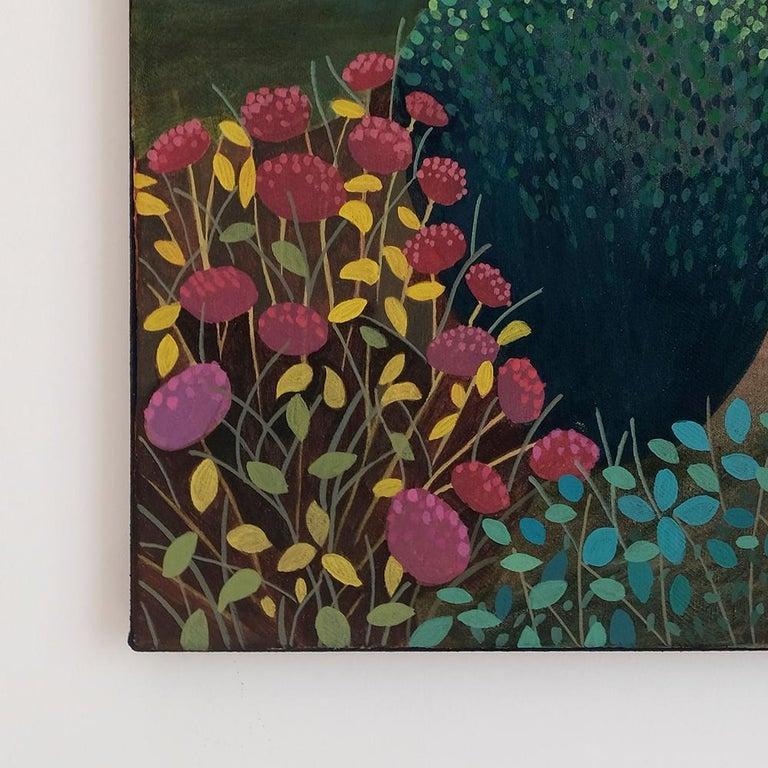Pandemic 3 - landscape painting, minimalist painting - Painting by Olga Szczechowska