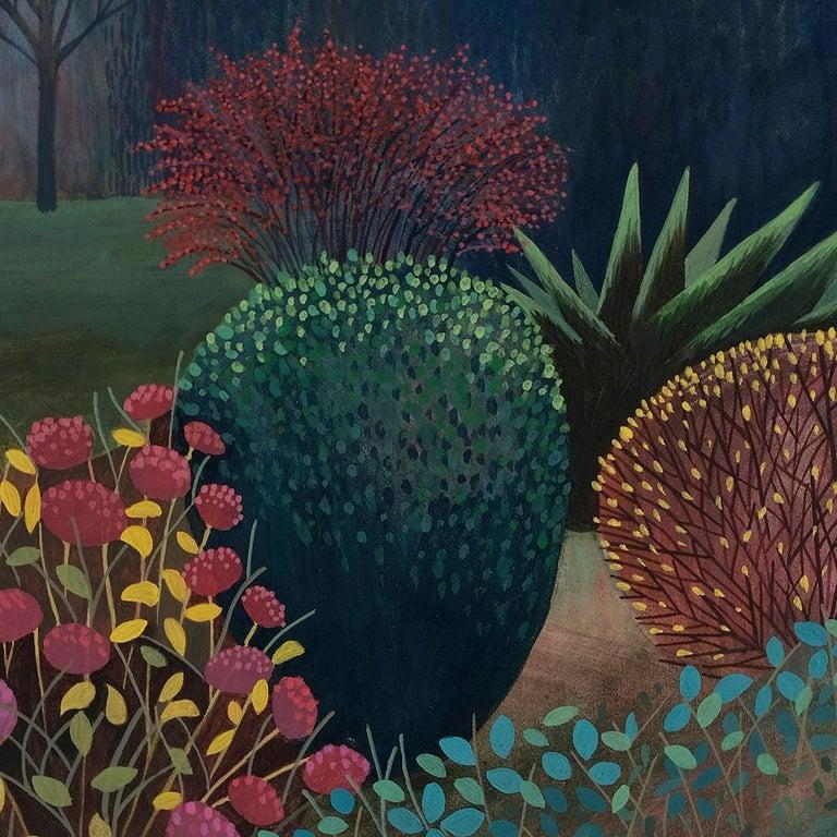 Pandemic 3 - landscape painting, minimalist painting - Minimalist Painting by Olga Szczechowska