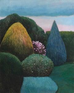 Pandemic 7 - landscape painting, minimalist painting