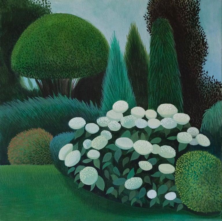 Olga Szczechowska Landscape Painting - Pandemic 19 - landscape painting, minimalist painting