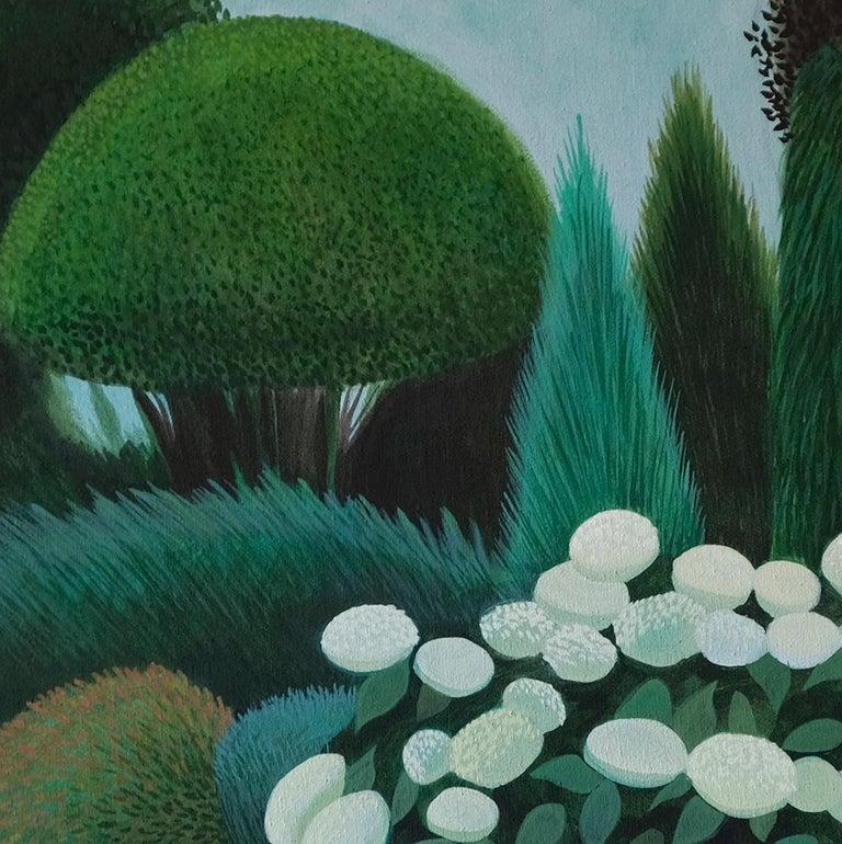 Pandemic 19 - landscape painting, minimalist painting - Painting by Olga Szczechowska