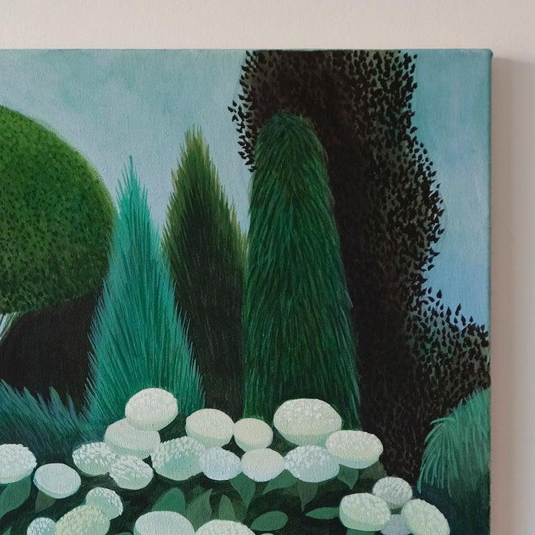 Pandemic 19 - landscape painting, minimalist painting - Minimalist Painting by Olga Szczechowska