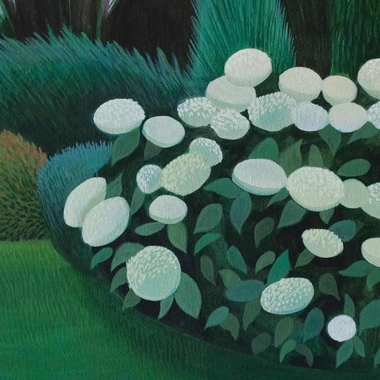Pandemic 19 - landscape painting, minimalist painting - Black Landscape Painting by Olga Szczechowska