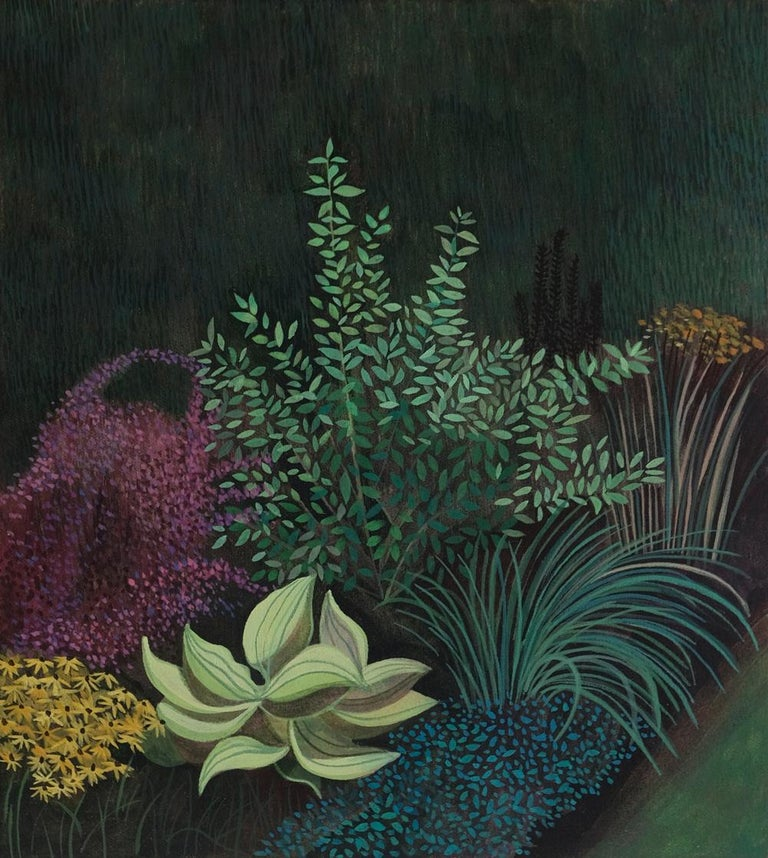 Olga Szczechowska Figurative Painting - Pandemic 6 - landscape painting, minimalist painting