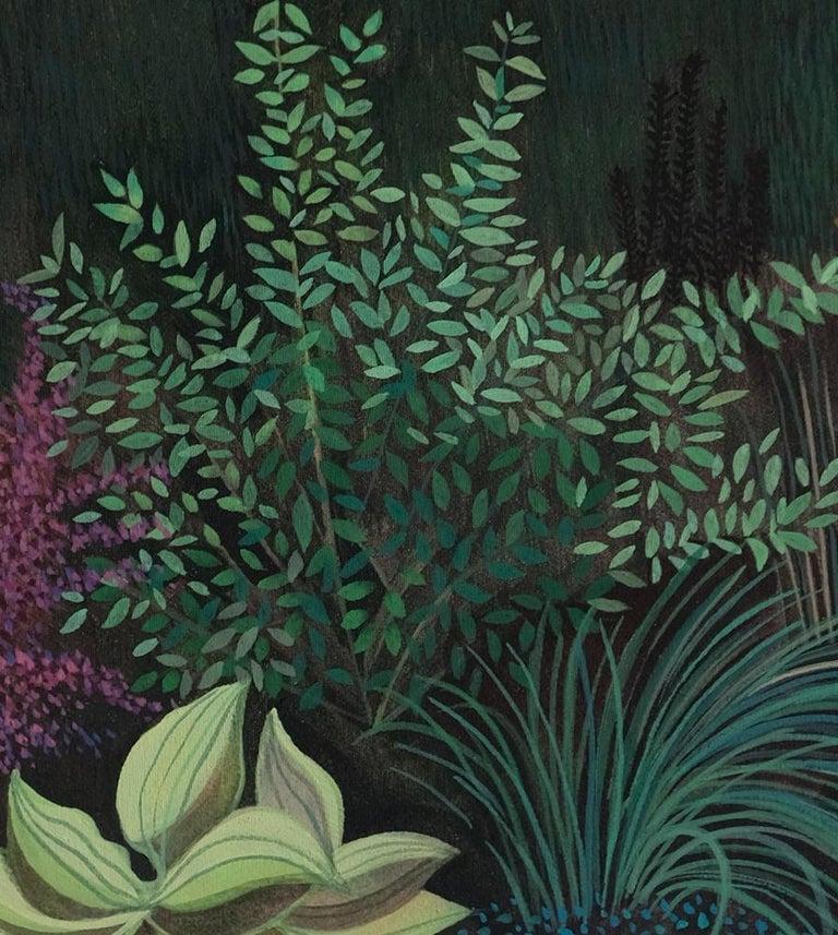 Pandemic 6 - landscape painting, minimalist painting - Painting by Olga Szczechowska