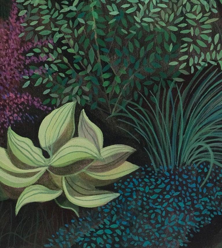 Pandemic 6 - landscape painting, minimalist painting - Black Figurative Painting by Olga Szczechowska