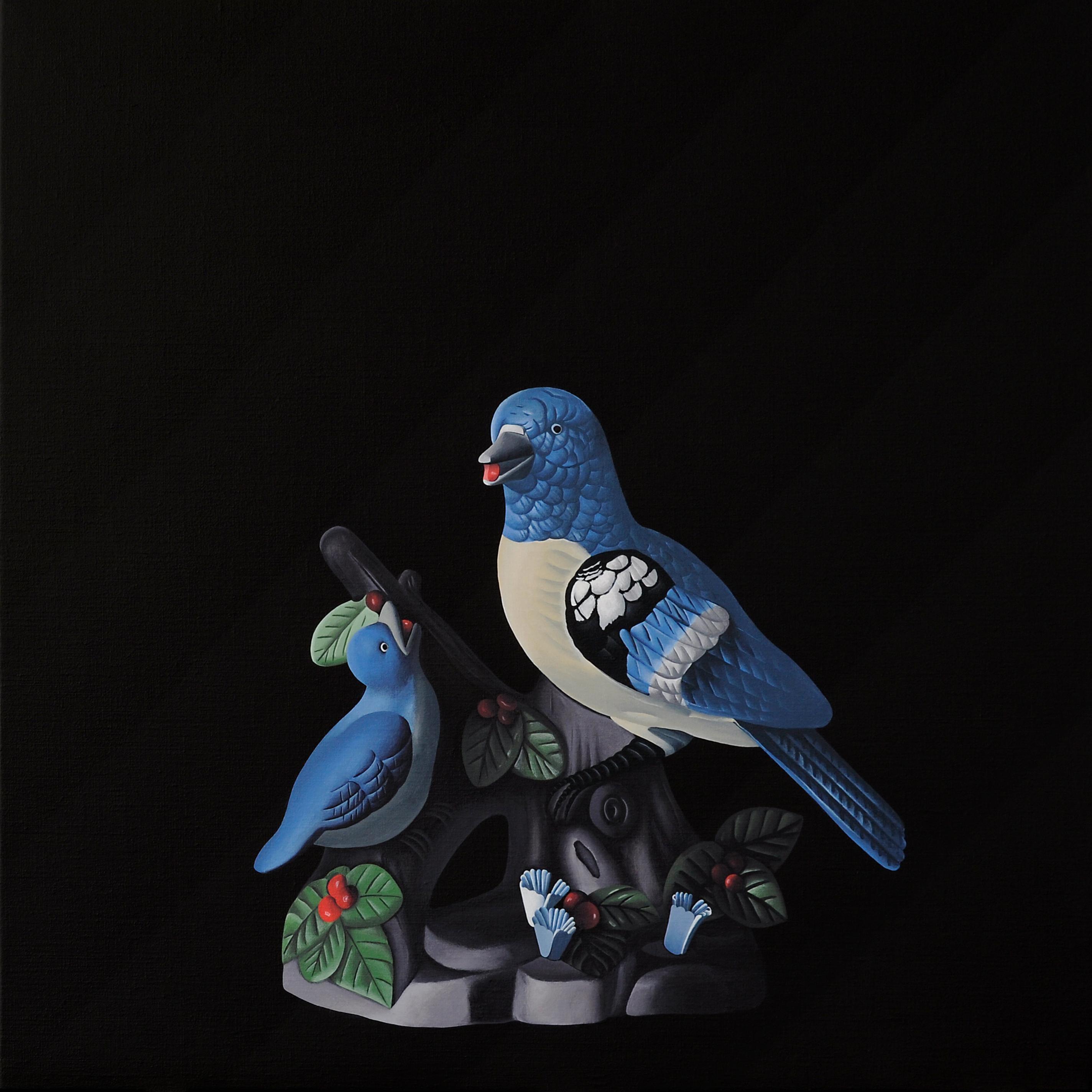 Birds - figurative landscape painting