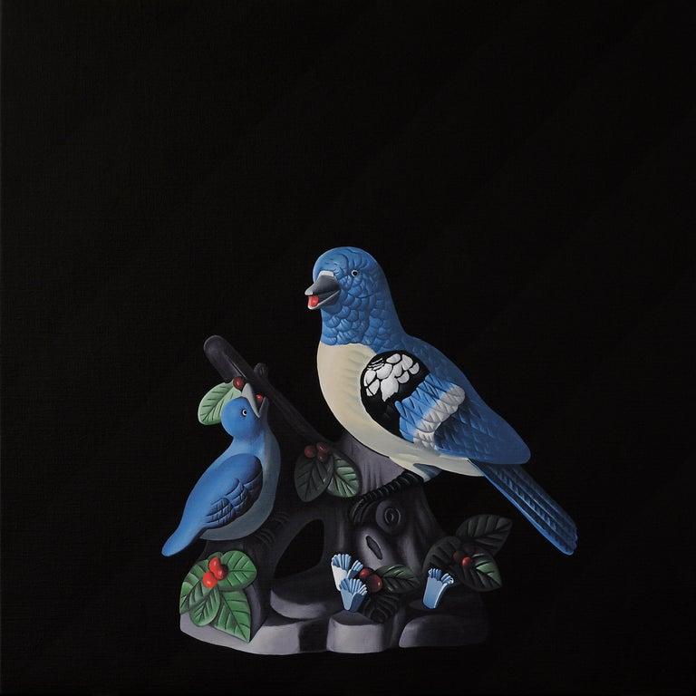 Jeroen Allart Animal Painting - Birds - figurative landscape painting