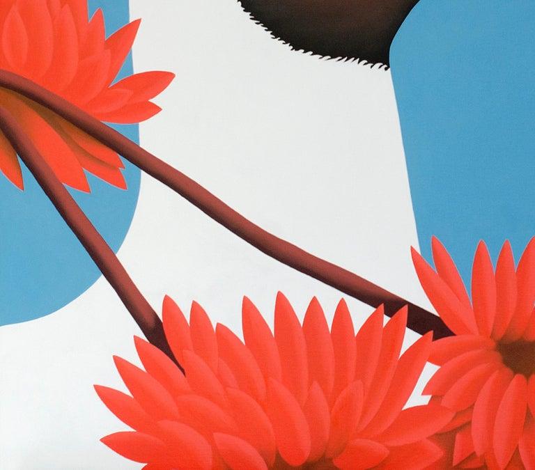 Black headed gull - figurative landscape painting - Painting by Jeroen Allart