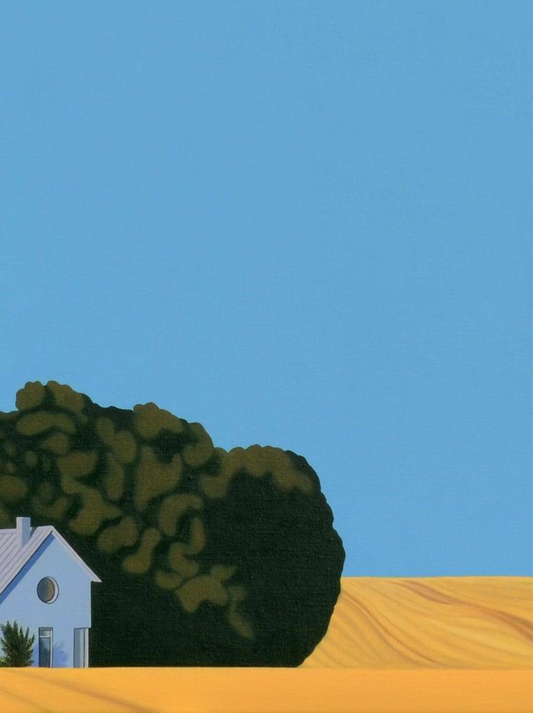 Sweden - landscape painting - Blue Animal Painting by Jeroen Allart