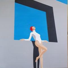 Blue sky - contemporary minimalist painting