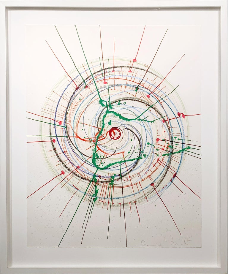 Damien Hirst Abstract Drawing - In A Spin (Unique) There is more to life than making jam and having kids