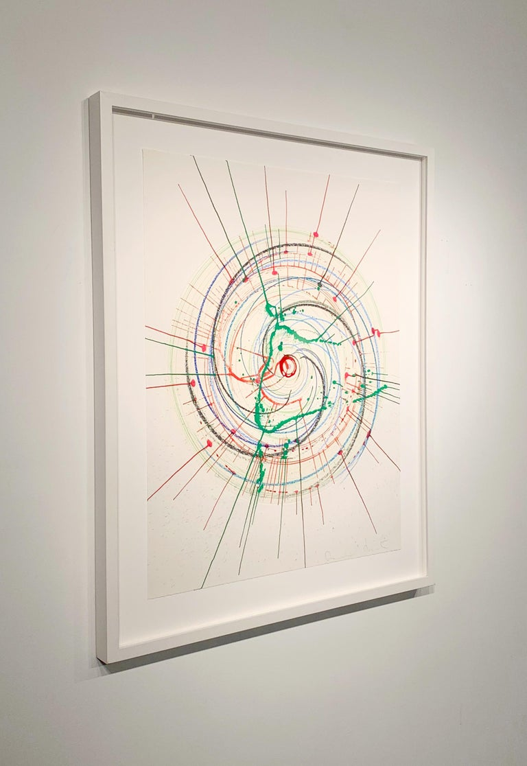 In A Spin (Unique) There is more to life than making jam and having kids - Beige Abstract Drawing by Damien Hirst